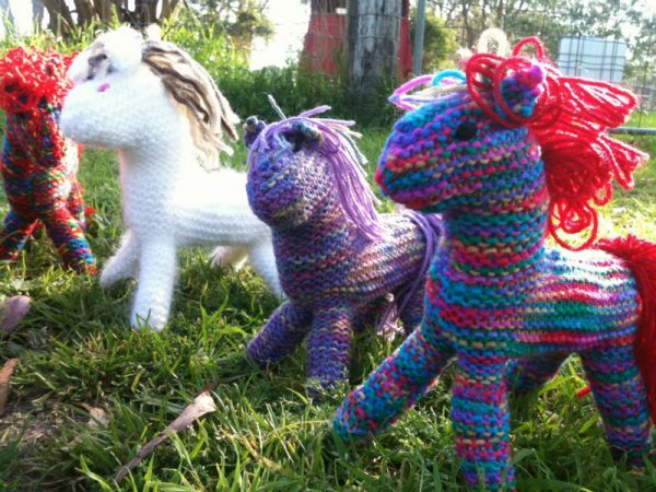 HWI Huggie Horses - nd knitted with love and available for adoption directly through Horse Welfare Inc